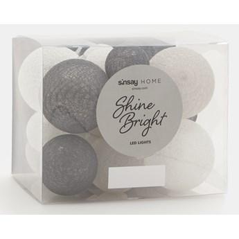 Sinsay - Lampki LED cotton balls 500 cm - Szary