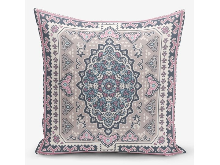 Zestaw 4 dekoracyjnych poszewek na poduszki Minimalist Cushion Covers Pink Ethnic, 45x45 cm Kolor Różowy