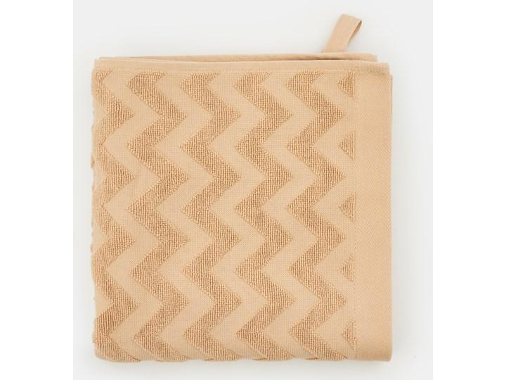 Sinsay - Bawełniany ręcznik 50x100 - Beżowy 50x100 cm Bawełna Kategoria Ręczniki