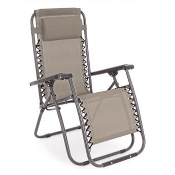 Martin Taupe krzesło/leżak ogrodowy