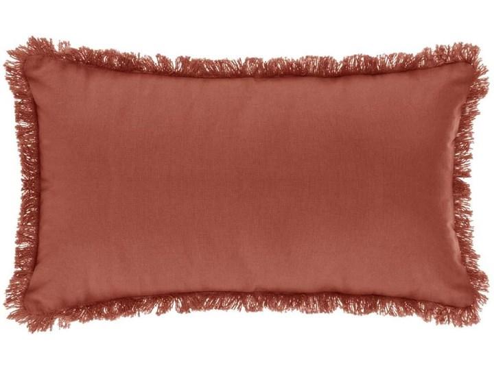 Poduszka dekoracyjna z frędzlami, 30 x 50 cm, kolor ceglany 30x50 cm Kategoria Poduszki i poszewki dekoracyjne