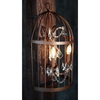 MCODO ::  Kinkiet BIRD CAGE z kryształami w stylu Vintage