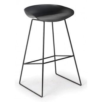 Krzesło barowe MONTY, czarne, 2 szt.