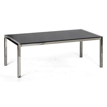 Szklany stół konferencyjny TAZ, 120 x 60 x 43 cm, czarny
