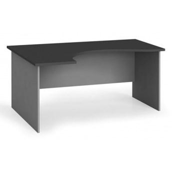 Narożny stół biurowy, zaokrąglony 160x120 cm, grafitowy, lewy