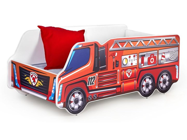 Łóżko Fire Truck Płyta meblowa Płyta MDF Kategoria Łóżka dla dzieci Kolor Czerwony