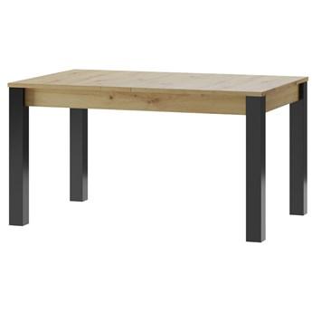Stół rozkładany LUCAS LC08 140-210 dąb artisan / czarny mat