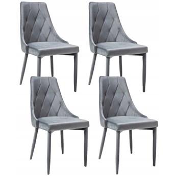 Zestaw 4x Krzesło TRIX Popiel Velvet Signal