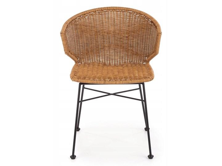 Zestaw 4x Krzesło K407 Rattan Halmar Głębokość 51 cm Metal Styl Nowoczesny Tworzywo sztuczne Szerokość 56 cm Szerokość 44 cm Wysokość 87 cm Stal Krzesło inspirowane Styl Rustykalny