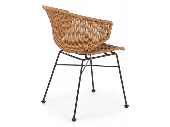Zestaw 4x Krzesło K407 Rattan Halmar Szerokość 56 cm Metal Krzesło inspirowane Szerokość 44 cm Tworzywo sztuczne Wysokość 87 cm Pomieszczenie Jadalnia Stal Głębokość 51 cm Styl Nowoczesny