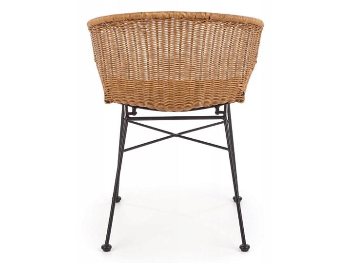 Zestaw 4x Krzesło K407 Rattan Halmar Styl Klasyczny Tworzywo sztuczne Metal Głębokość 51 cm Szerokość 56 cm Wysokość 87 cm Stal Krzesło inspirowane Szerokość 44 cm Styl Rustykalny