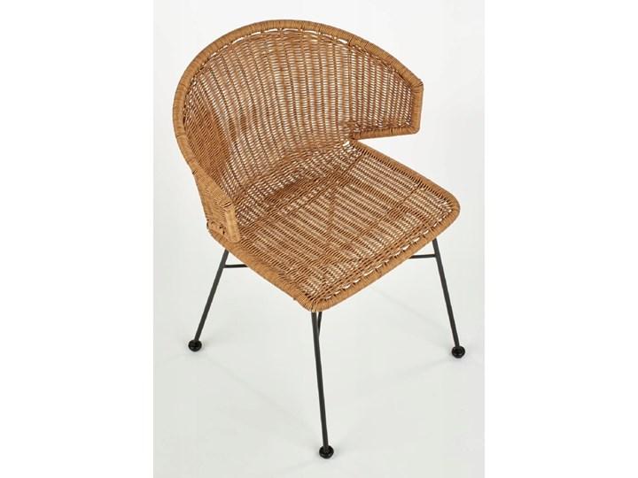Zestaw 4x Krzesło K407 Rattan Halmar Krzesło inspirowane Szerokość 56 cm Stal Wysokość 87 cm Styl Rustykalny Głębokość 51 cm Tworzywo sztuczne Metal Szerokość 44 cm Pomieszczenie Jadalnia
