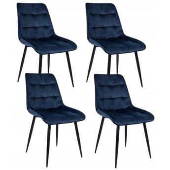 Zestaw 4x Krzesło CHIC VELVET Granat Signal