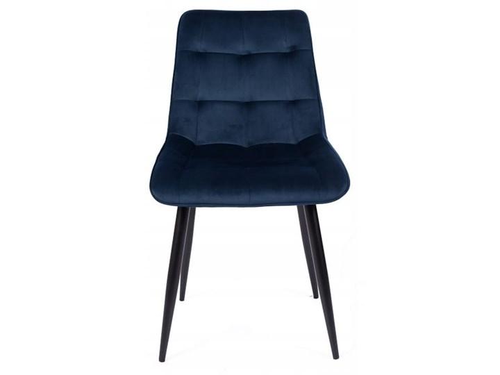 Zestaw 4x Krzesło CHIC VELVET Granat Signal Głębokość 58 cm Tapicerowane Welur Szerokość 50 cm Pikowane Wysokość 88 cm Metal Stal Tkanina Krzesło inspirowane Kategoria Krzesła kuchenne