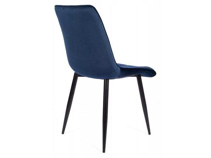 Zestaw 4x Krzesło CHIC VELVET Granat Signal Wysokość 88 cm Głębokość 58 cm Tkanina Metal Tapicerowane Styl Glamour Pikowane Stal Krzesło inspirowane Welur Szerokość 50 cm Pomieszczenie Jadalnia