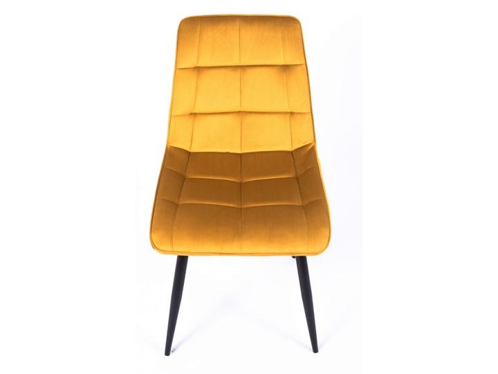 Krzesło CHIC VELVET Curry Signal Welur Wysokość 88 cm Metal Z podłokietnikiem Pikowane Stal Tapicerowane Pomieszczenie Jadalnia Tkanina Głębokość 58 cm Szerokość 50 cm Pomieszczenie Salon