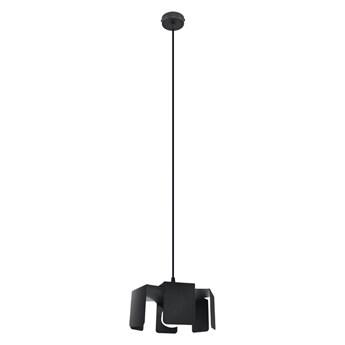 Czarna lampa wisząca industrialna - EX584-Tuliv