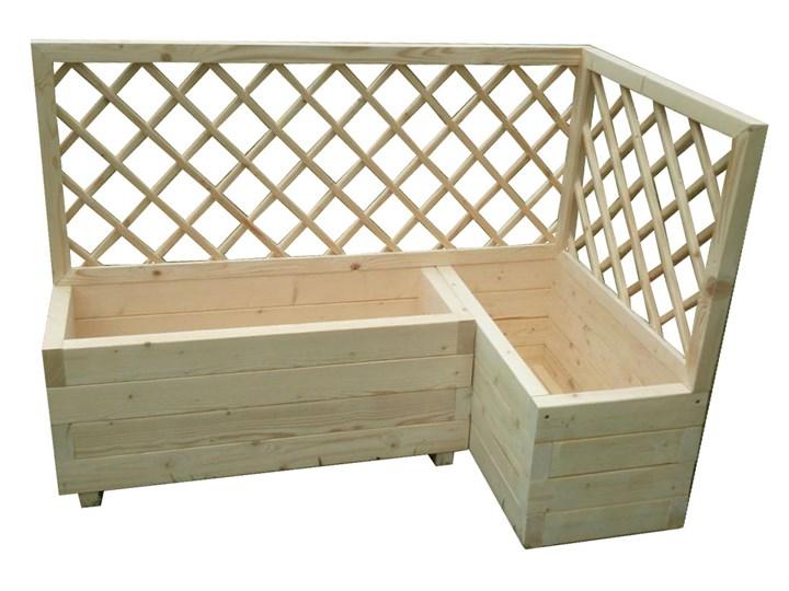 Duża drewniana donica ogrodowa z pergolą - Hestra Drewno Donica balkonowa Kategoria Donice ogrodowe