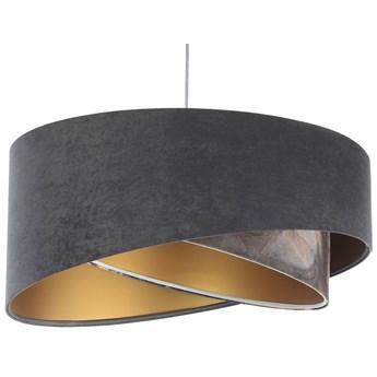 Szara welurowa lampa wisząca asymetryczna - EXX11-Gelva