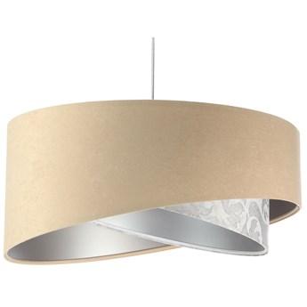 Beżowa welurowa lampa wisząca z wzorem - EXX13-Glora