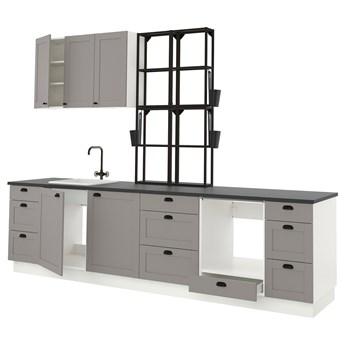 IKEA ENHET Kuchnia, antracyt/szary rama, 323x63.5x241 cm
