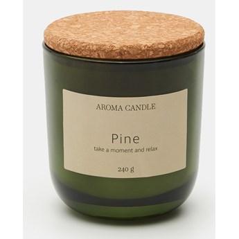 Sinsay - Świeca zapachowa Pine 240 g - Turkusowy