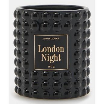 Sinsay - Świeca zapachowa w szkle London Night 160 g - Czarny