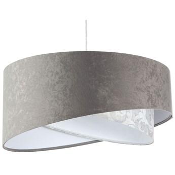 Szara welurowa lampa wisząca nad stół - EXX14-Felina