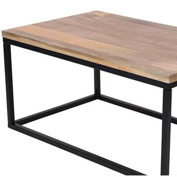 Stół z drewnianym blatem 100x60x48 cm