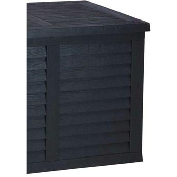 Skrzynia ogrodowa antracyt 120x58x52 cm