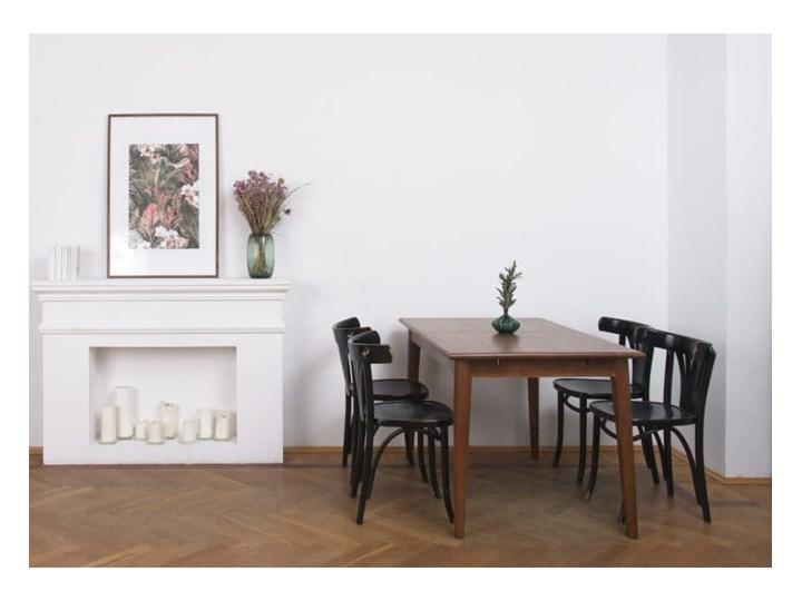 Stół rozkładany MARIAN - 120x80 cm (Karmel) Drewno Styl Industrialny Długość 120 cm  Kamień Pomieszczenie Stoły do kuchni
