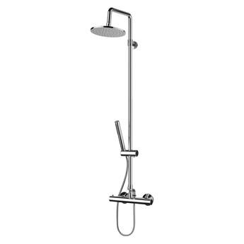 Mini zestaw prysznicowy ścienny termostatyczny z deszczownicą chrom MI1544-X/OCR