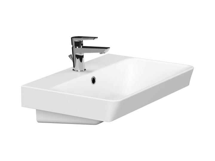 Umywalka meblowa ceramiczna Cersanit Mille Slim 60 cm Ceramika Prostokątne Meblowe Kategoria Umywalki Kolor Biały