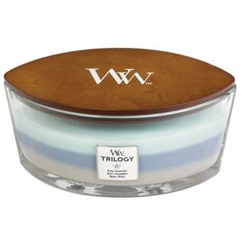 Świeczka elipsa WoodWick Trilogy Woven Comforts Elipsa 453,6g