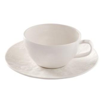 Filiżanka ze spodkiem różyczki DUKA SARA 90 ml porcelana