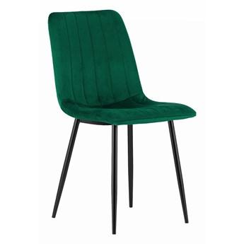 Krzesło tapicerowane do jadalni DC-1939 - Welur zielony 56