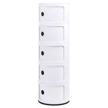 Biała wysoka szafka nowoczesna - Pris 5X