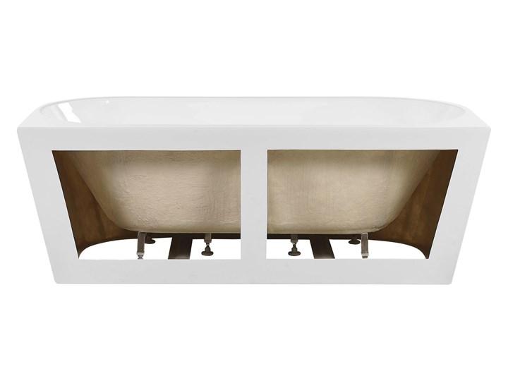 Wanna biała akrylowa 170 x 80 cm owalna nowoczesny design Długość 170 cm Symetryczne Kolor Biały Kategoria Wanny
