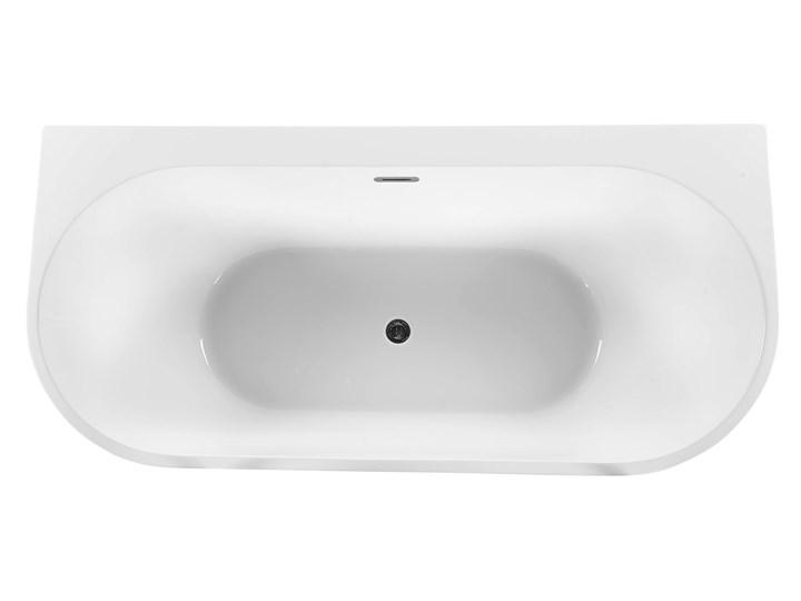 Wanna biała akrylowa 170 x 80 cm owalna nowoczesny design Symetryczne Długość 170 cm Kolor Biały
