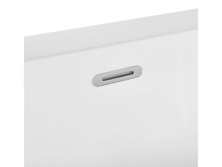 Wanna biała akrylowa 170 x 80 cm owalna nowoczesny design Kolor Biały Symetryczne Długość 170 cm Kategoria Wanny