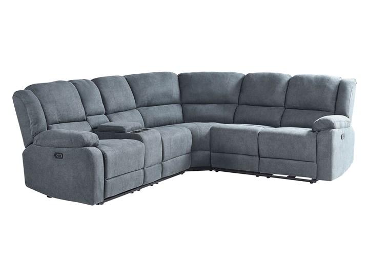 Narożnik rozkładany elektryczny szary tapicerowany z funkcją relaksu sofa 5-osobowa port USB uchwyt na napoje Modułowe Liczba miejsc Pięcioosobowy i więcej Nóżki Bez nóżek
