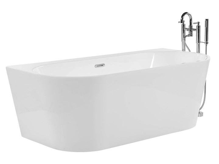 Wanna biała akrylowa 170 x 80 cm owalna nowoczesny design Długość 170 cm Symetryczne Kolor Biały