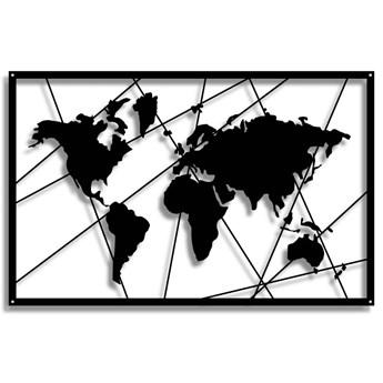 Dekor World Map [XXL] 100x64cm - Metalowa Mapa Świata - Dekoracja Ścienna
