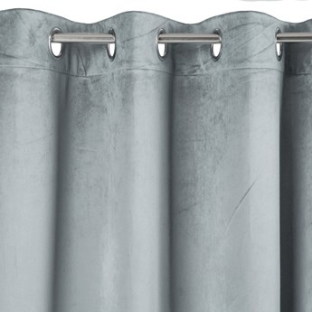 Zasłona o Strukturze Welwetu Taylor 140x250cm srebrny