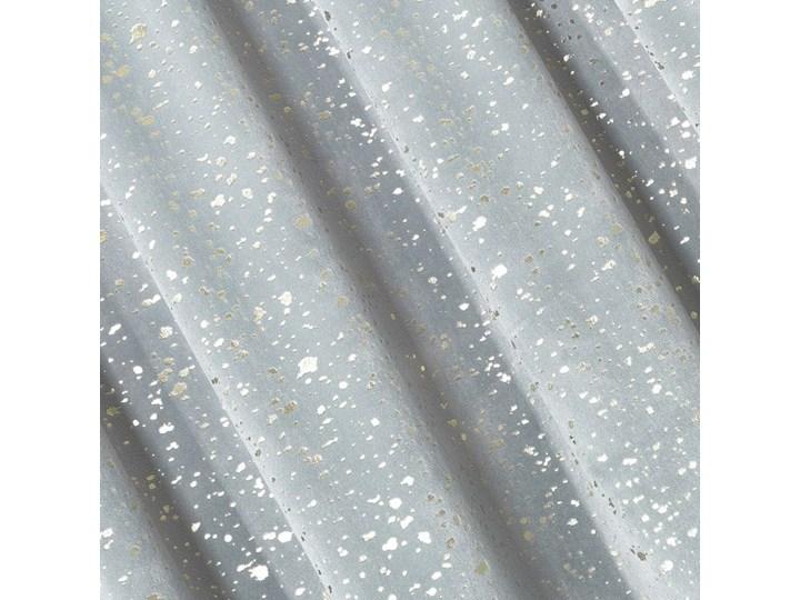 Jednokolorowa Zasłona Lajla 140x270cm - Srebrny - Taśma Typ Zasłony gotowe Poliester Zasłona zaciemniająca Bawełna 140x270 cm Wzór Nadruk