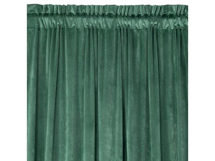 Zasłona Welwetowa Rosa 135x300cm - Ciemny Zielony - Taśma 135x300 cm Mocowanie Tunel Poliester Typ Zasłony gotowe