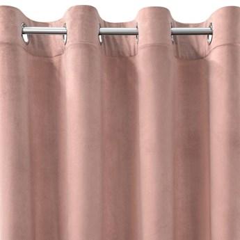 Zasłona Welwetowa Rosa 135x250cm - Ciemny Różowy - Przelotki