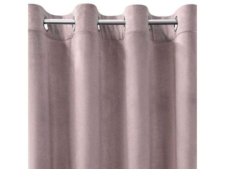 Zasłona Welwetowa 140x250cm - Pudrowy - Przelotki Poliester 140x250 cm Pomieszczenie Jadalnia