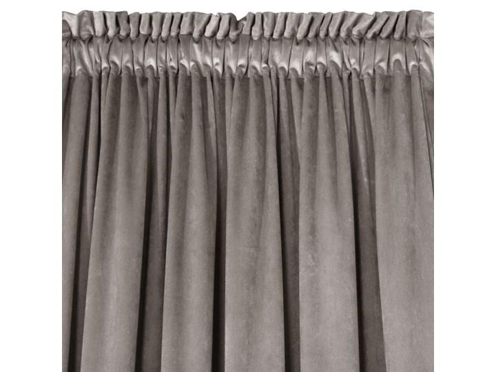 Zasłona Welwetowa Pierre 140x300cm - Ciemny Beżowy - Taśma Bawełna 140x300 cm Zasłona zaciemniająca Poliester Pomieszczenie Sypialnia Typ Zasłony gotowe