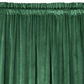 Zasłona Welwetowa Pierre 140x300cm - Ciemny Zielony - Taśma